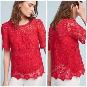 ♥️ Vanessa Virginia Lace Top by Anthropologie ♥️